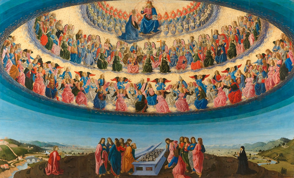 Wszyscy Święci siedzą na tarasie nieba – (Mt 5,1-12a)